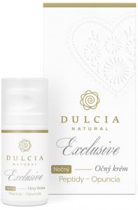 Dulcia Exclusive nočný očný krém Peptidy Opuncia