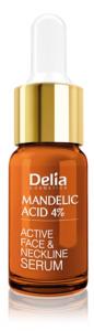 Delia Cosmetics Mandelic Acid 4% Active Face & Neckline Serum