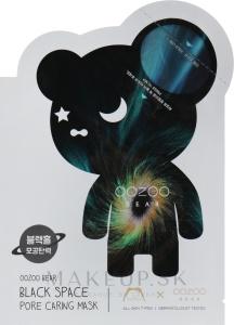 THE OOZOO Bear Black Space Pore Caring pleťová maska