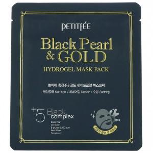 Petitfee Black Pearl & Gold Hydrogel Mask Pack 5ea