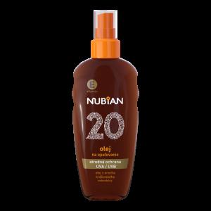Nubian Olej na opaľovanie SPF 20
