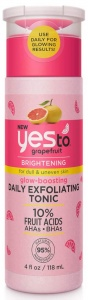 Yes To Grapefruit Glow-Boosting Daily Exfoliating Tonic